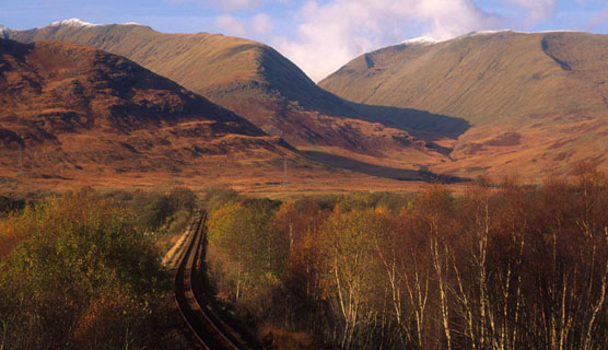 The views around Loch Awe: View from the Train mobile app: